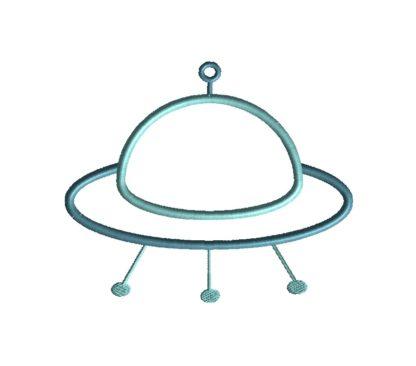 Alien Ship Applique Design