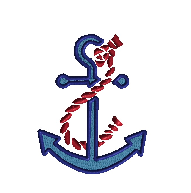 Anchor and Rope Applique