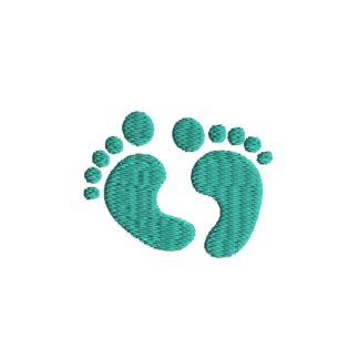 Mini Feet Embroidery Design