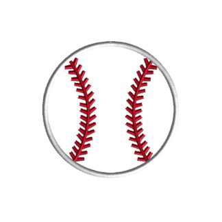 Baseball Applique Design