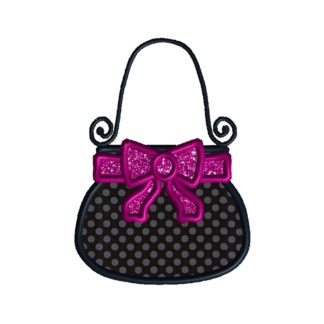 Bow Purse Applique Design