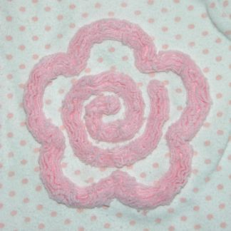 Chenille Flower Embroidery Design