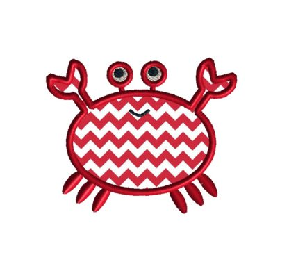 crab applique design