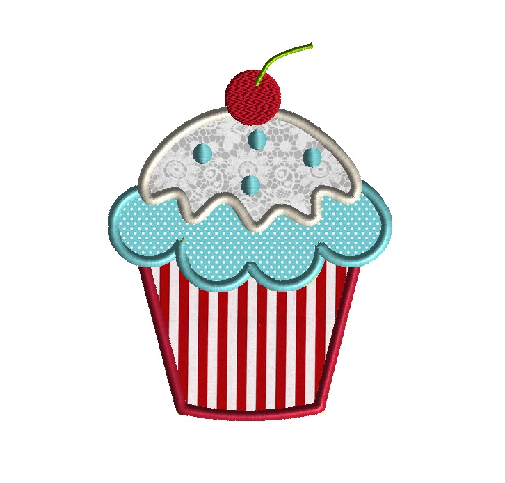 Cupcake Supreme Applique Design