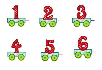 Numbers for Cupcake Train