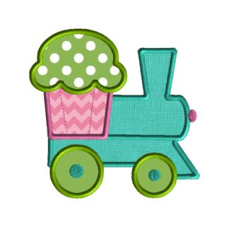 Cupcake Train Applique
