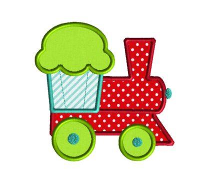 Cupcake Train Applique