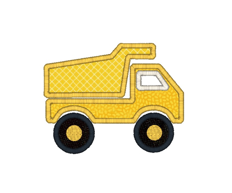 Dump Truck Applique Design