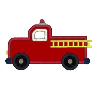 Fire Engine Applique Design