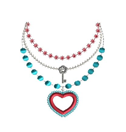Heart Pendant Necklace Applique