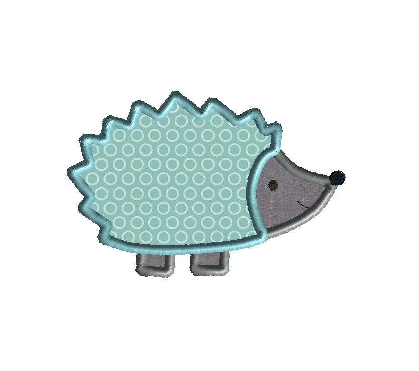 hedgehog applique design