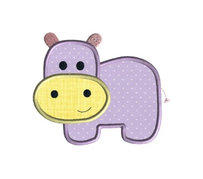 Hippo Applique Design