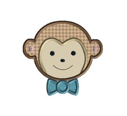 Monkey Boy Applique Design