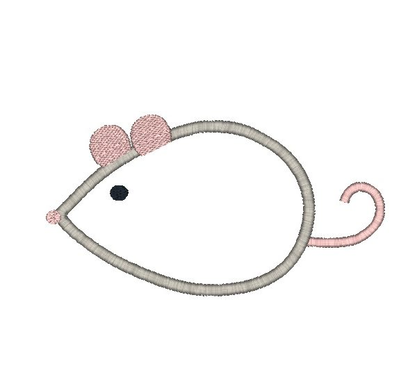 Mouse Applique Design