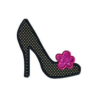ooo la la high heel shoe applique design