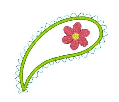 Paisley Applique Design