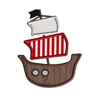Pirate Ship Applique Design