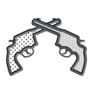 Pistols Applique Design
