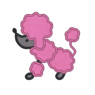 Poodle Applique Design