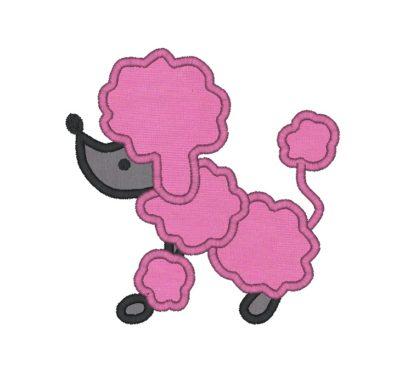 Poodle Applique Design