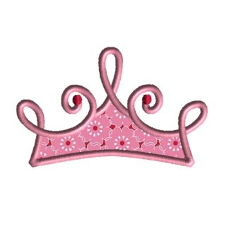 Princess Crown Applique Design