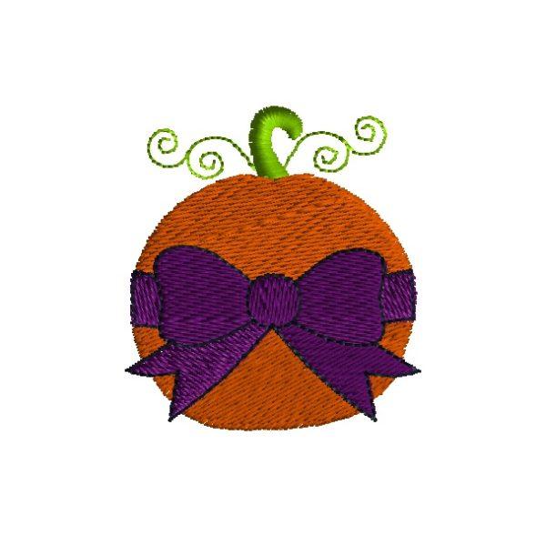 Mini Pumpkin Bow Embroidery Design