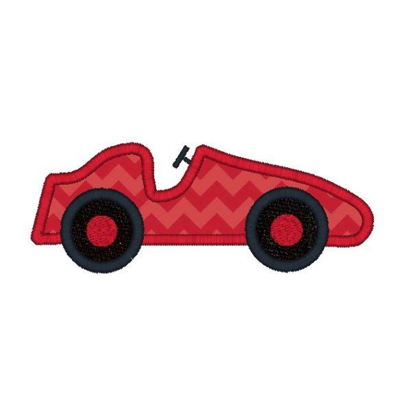 Race Car Applique Design