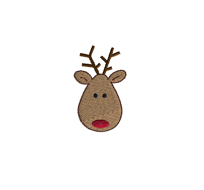 Mini Reindeer Embroidery Design