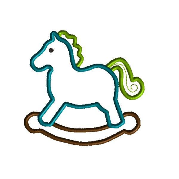 Rocking Horse Applique Design