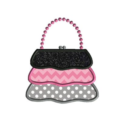 Ruffle Purse Applique Design