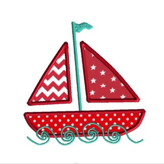Sailboat Applique Design
