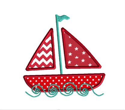 Sailboat Applique Design