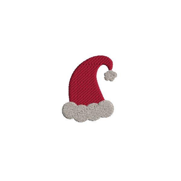 Mini Santa Hat Embroidery Design