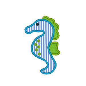 Baby Seahorse Applique Design