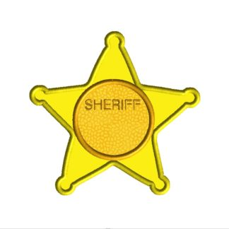 Sheriff Badge Applique