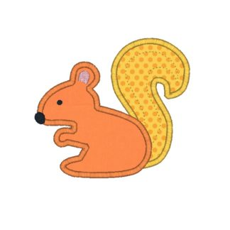 Squirrel Applique Design