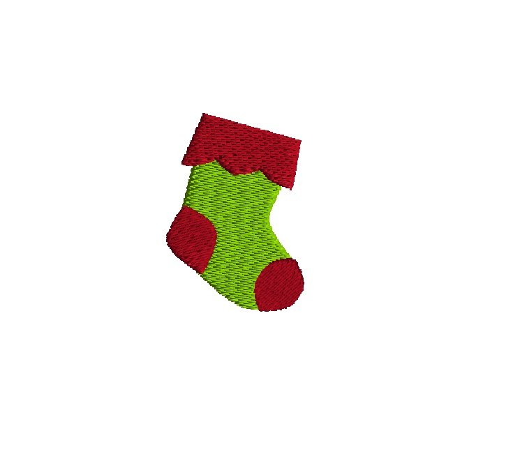 Mini Christmas Stocking Embroidery Design