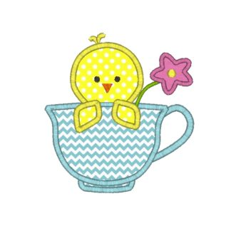 Teacup Chick Applique Design