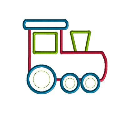 Train Applique Design