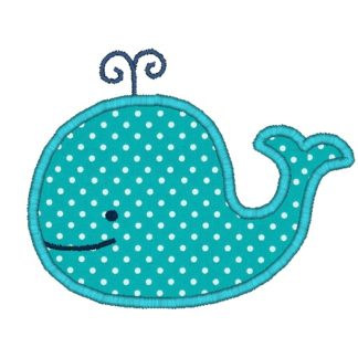 whale applique design