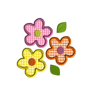 Flower Trio Applique Design
