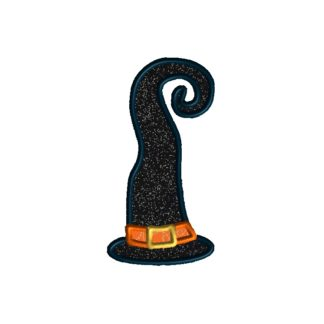 Funky Witch Hat Applique Design
