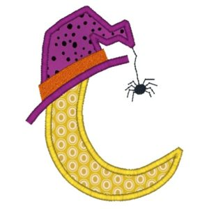Halloween Moon Applique Design