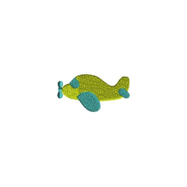 Mini Airplane Embroidery Design