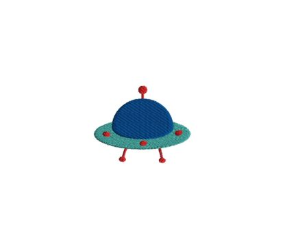 Mini Alien Ship Embroidery Design