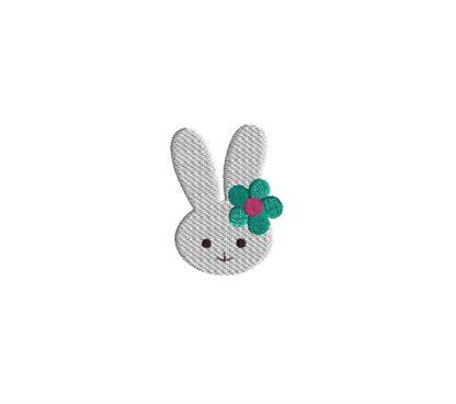 Mini Bunny Head Embroidery Design