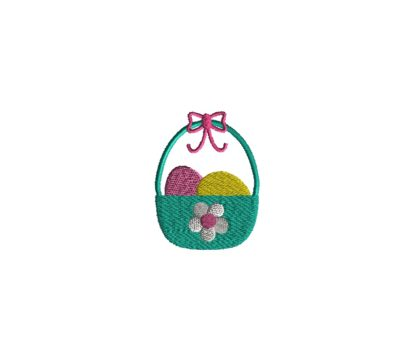 Mini Easter Basket Embroidery Design