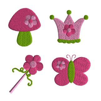 Mini Garden Fairy Embroidery Set-0