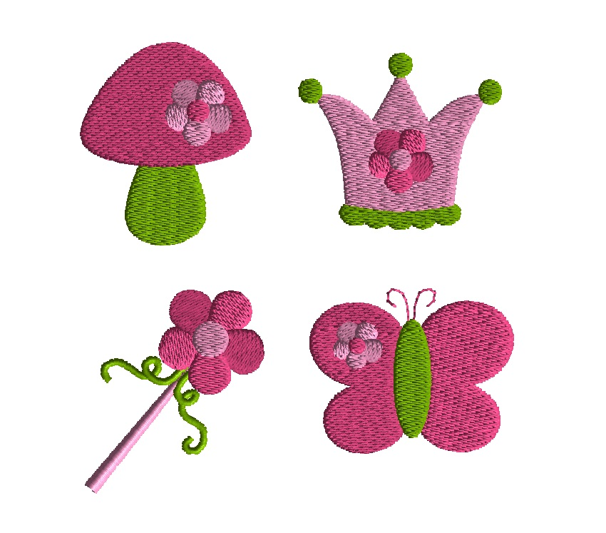 Mini Garden Fairy Embroidery Set-0