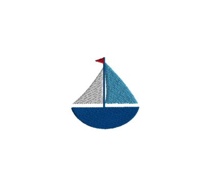 Mini Sailboat Embroidery Design